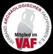 Wir sind Mitglied im VAF - Verband der archäologischen Fachfirmen NRW e.V.